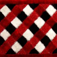Buy cheap Polyester Mixed Shaggy Carpet And Rug Red white and black mix color 80x150cm/120x170cm/160x230cm etc from wholesalers