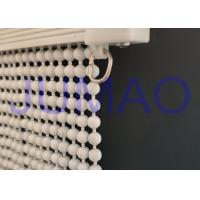 Buy cheap Cream Color Steel Ball Chain Curtain Waterproof Entrances With Curved Track product