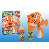 Buy cheap Free shipping Cute clown fish single bottle of water with music and light blue bubble gun from wholesalers