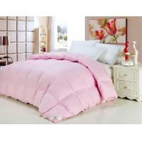 Buy cheap 50% White GOOSE Down Pink Cotton Quilt / Duvet Double Stitched Piping for Hotel from wholesalers
