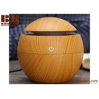 Buy cheap Manufacture OEM Mini Electric Aroma Essential Oil Diffuser Wood Grain Ultrasonic Nebulizer Portable Cool Mist Humidifier from wholesalers