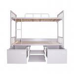 Buy cheap Waterproof 2000mm Long Dorm White Steel Bunk Beds from wholesalers