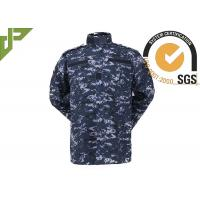 Dark Digital Ocean Military Camouflage Uniforms Tear Resistant For Army Combating / Duty