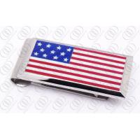 Buy cheap American National Flag Stainless Steel Money Clip Personalized Jewelry from wholesalers