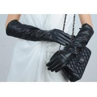 Buy cheap Women 100% Real sheepskin  Leather Gloves,Five Finger long leather Gloves from wholesalers