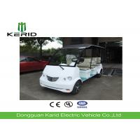Buy cheap White 4kW Electric Sightseeing Car Designed For Patrol Purpose 8 Passengers Electric Tourist Cart product