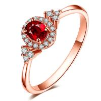 Buy cheap Brides Wedding Ruby Diamond Ring with Precious Metal Brilliant Diamond Royalty Stone from wholesalers