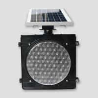 Buy cheap High Visible Yellow Warning Traffic Light, Solar Powered Outdoor Lighting from wholesalers
