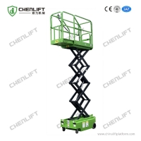 Buy cheap 5.9m Height 240kg Load Mini Electrical Self Propelled Scissor Lift with CE Certificate for Warehouse from wholesalers