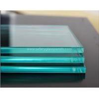 Patterned Flat Clear Float Glass 12mm For Shop Fronts / Folding Screens