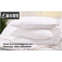 Buy cheap White Duck Feather Pillows Neck Health Care Pillow 100% Fine Cotton Allow The Feather To Breathe from wholesalers
