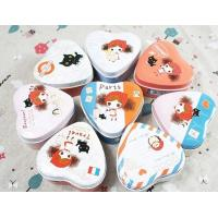Buy cheap Heart shape cute paint candy tins from wholesalers