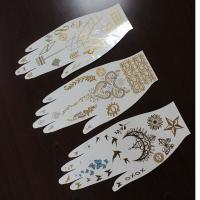 Buy cheap Gold sliver nail temporary tattoos from wholesalers