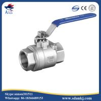 Buy cheap High quality 2 pcs thread connection flat lever handle cf8m stainless steel water gas ball valve from wholesalers