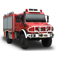 Buy cheap 4x4 Unimog Forest Special Fire Truck with Double Cabin and Water Tank from wholesalers