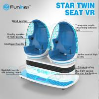Buy cheap Two players 1.2KW VR Game Machine / 9d Cinema Simulator With VR Helmet from wholesalers