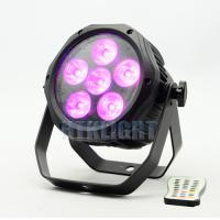 Buy cheap 6 * 18W RGBWA + UV 6 in1 Battery Powered DMX Lights / Led Par Light from wholesalers