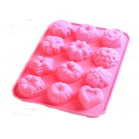 Buy cheap Flexible Flower Silicone Baking Molds With 12 Cavitiese For Bussiness promotion gift from wholesalers