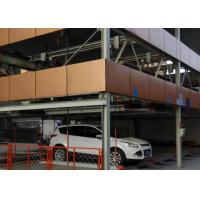 Buy cheap Q345B Multi Storey Steel Structure Car Parking Automatic Hot Dip Galvanized Surface from wholesalers