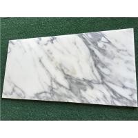 Buy cheap White Calacatta Marble Natural Stone Tile For Bathroom 10mm Thickness from wholesalers