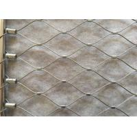 Buy cheap 316L SS Wire Rope Mesh Hand Woven 1.2-3.2mm Diameter For Balustrade from wholesalers