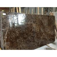Buy cheap Dark Brown Natural Stone Slabs 2.71g / Cm3 Bulk Density 95 Up Polished Degree from wholesalers