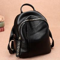 Buy cheap 2017 The New Female Cowhide Leather Backpack Lovely Fashion  Leisure Travel Bag from wholesalers