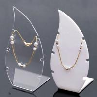 Buy cheap Transparent Acrylic Counter Jewelry Display Case Necklace Holder product