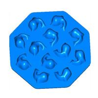 Buy cheap eco-friendly silicone chocolate cake molds dolphin shape 12 holes product