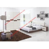 Buy cheap Storage bed box with oil bar support in dark oliver painting and white headboard furniture from wholesalers
