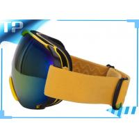 Buy cheap Stylish Convenient Yellow Photochromic Custom Snow Goggles With Double Lens from wholesalers