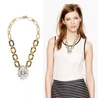 Buy cheap Acrylic & glass ancient style necklace ,Customized clothing fashion accessories factory from wholesalers