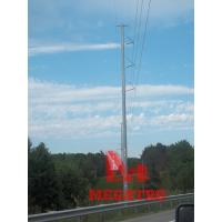 Buy cheap 230KV single circuit davit cross-arm transmission pole from wholesalers