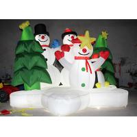 Buy cheap Advertising Air Inflatable Christmas Decorations Snowman With Lighting Inside from wholesalers