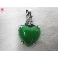 Buy cheap Stylish Turquoise Resin Charms Necklace Pendant Jewelry , Peach Heart Shape product