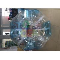 Buy cheap 1.8m PVC Blue Clear Inflatable Bumper Ball  for human bubble football game from wholesalers