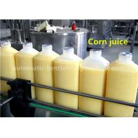 8-8-3 Corn Juice Bottle Filling Machine 1.5L HDPE Bottle With Aluminum Foil Sealing