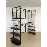 Buy cheap 6 Wheel Clothing Store Fixtures Metal Free Standing Hanging Garment Display Stand from wholesalers