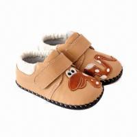 Buy cheap Infant Shoes, Made of Imported Cow Leather, Various Colors are Available from wholesalers