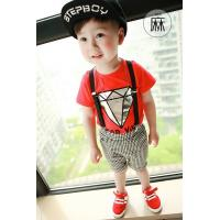 Buy cheap Children's Clothes baby grid suspenders baby suit quality baby wear from wholesalers