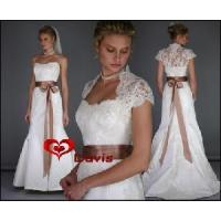 Buy cheap Empire White Lace Wedding Dress (WD3008) from wholesalers