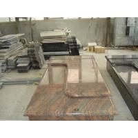 Buy cheap Multicolor Red Granite Stone Tombstones For Graves French Style Acid Resistant from wholesalers