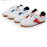 Buy cheap Custom Boxing Kung Fu Tai Chi Taekwondo Sport Gym Shoes colour white blue red size 27-45 for adult and children from wholesalers