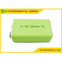 Buy cheap 9V 280mah Prismatic Nimh Battery / 6F22 9v Battery High Energy Density 9V rechargeable battery from wholesalers
