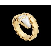 Buy cheap Bvlgari Serpenti 18 kt yellow gold ring with mother of pearl Ref. AN855765 from wholesalers
