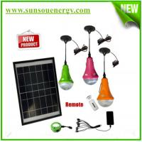 Solar home lighting system, mini solar lighting kits, solar Led lighting kits with 3 bulb lights