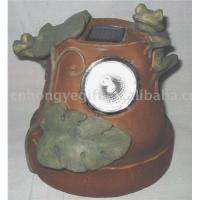 Buy cheap Polyresin Solar Powered Lights (Frog Design ) from wholesalers