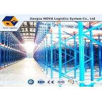 Buy cheap Channel Type Radio Shuttle Racking , High Density Warehouse Pallet Racking from wholesalers