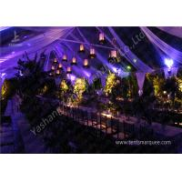 Buy cheap Classical Wood Tables Available for Luxury Wedding Tents with Aluminum Frame from wholesalers