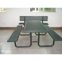 Buy cheap Abrasion Resistance 3 Seater Metal Garden Bench Steel TUV Certificate from wholesalers